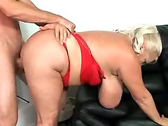 Breasty chubby mature sucks and fucked