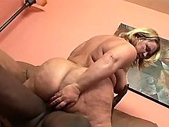Black guy fucks chubby mature whore