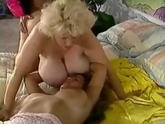 Chesty plump chicks fucked by guy