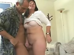 Breasty plump mummy fucks with dude