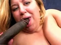 Plump woman with huge boobs in orgy