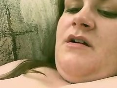 Giant lady with big boobs dildoing